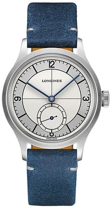 Longines Heritage Classic Automatic Leather Strap Watch