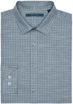 Perry Ellis Slub Check Fabric Shirt