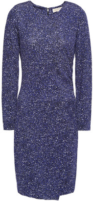 MICHAEL Michael Kors Asymmetric Printed Jersey Mini Dress