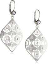 "Liz Palacios Plumas"" Swarovski Crystallized Filigree Earrings"