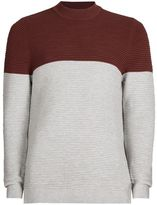 Topman Burgundy and Black Turtle Neck Sweater
