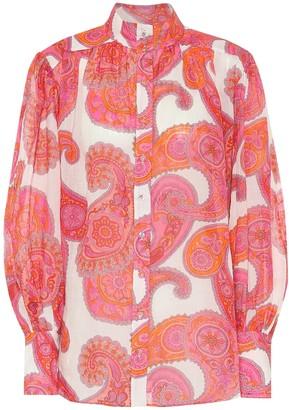 Zimmermann Peggy paisley ramie blouse
