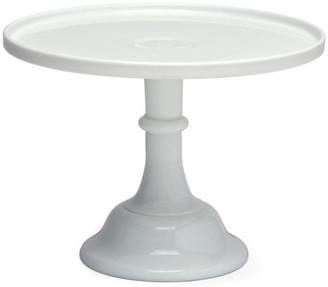 Mosser Glass Cake Plate - Milk Glass white
