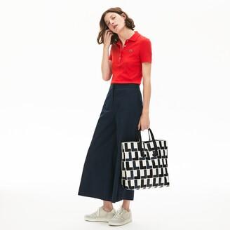 Lacoste Women's Fashion Show Monogram Leather Double Tote