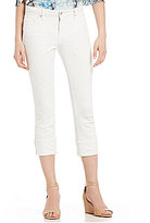 Miraclebody Jeans Promise Roll-Up Twill Destruction Detail Crop Jeans