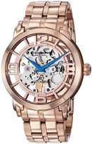 Stuhrling Original Men's Men's Rose Gold Skeleton Watch