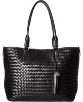 Cole Haan Celia Woven Medium Zip Top Tote