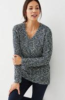 J. Jill Dipped-Hem Marled Sweater