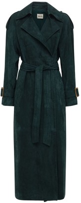 KHAITE Libby Suede Trench Coat