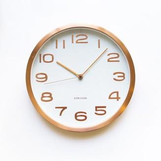 Present Time Copper Maxie Wall Clock