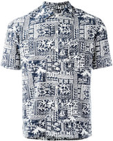Salvatore Piccolo printed shorsleeved shirt - men - Cotton/Rayon - 39