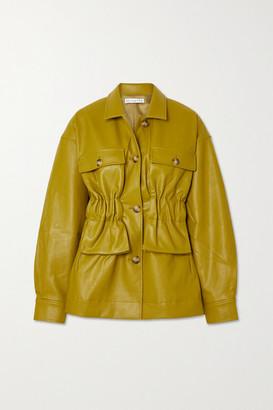 REJINA PYO Keiko Faux Leather Jacket - Army green