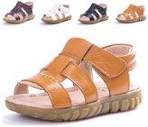 Femizee Casual hook and loop Leather Sandals for Boys(Toddler/Little Kid)