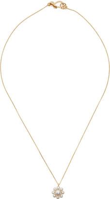Sophie Bille Brahe Gold Pearl Margherita Simple Necklace