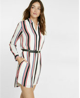 Express striped shirt dress