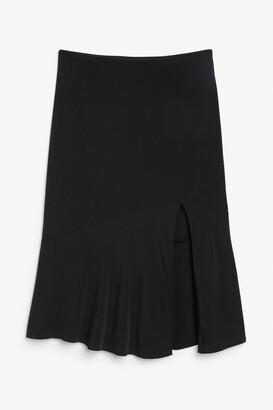 Monki Side-slit midi skirt