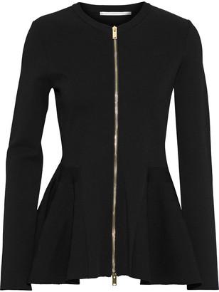 Stella McCartney Compact Stretch-knit Peplum Jacket