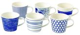 Royal Doulton Pacific Porcelain Mugs (Set of 6)