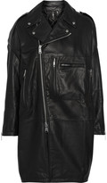 R 13 X-Oversized leather coat