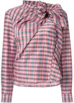 Isabel Marant 'Mista' checked pattern top - women - Silk/Ramie - 42