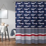 Sausage Dog Shower Curtain in Navy