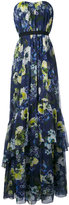 Erdem long floral sleeveless dress - women - Silk - 10