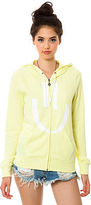 Volcom The Psystonic Fleece Zip Hoody in Yellow Flash