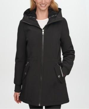 Calvin Klein Fleece-Lined Hooded Raincoat