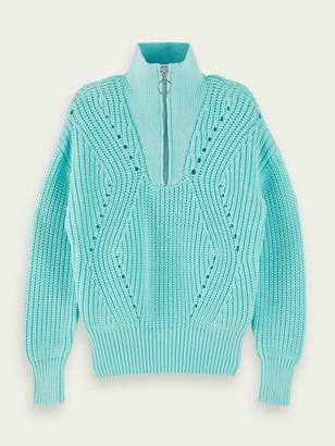 Scotch & Soda Cotton-blend chunky knit pullover | Girls
