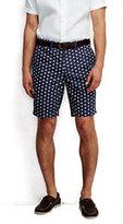 """Classic Men's 9"""" Printed Casual Chino Shorts-Royal Indigo Print"""