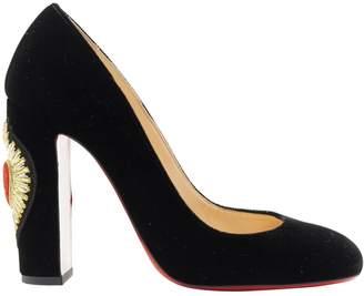 Christian Louboutin \N Black Velvet Heels
