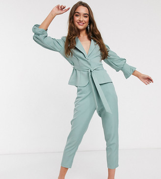 Outrageous Fortune Petite cigarette trouser in sage