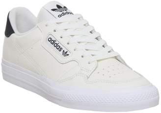 adidas Continental Vulc Trainers Off White Core Black
