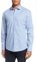 Zachary Prell Men's 'Ulin' Trim Fit Plaid Sport Shirt