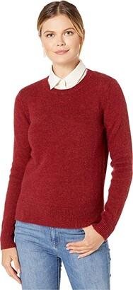 Pendleton Shetland Crew Pullover (Scarlet Red) Women's Sweater