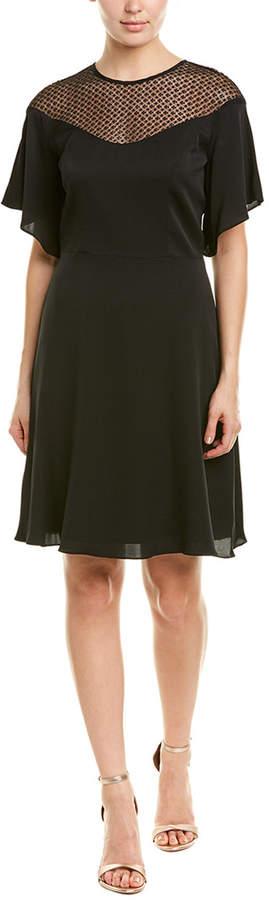 Milly Jan Silk-Blend A-Line Dress