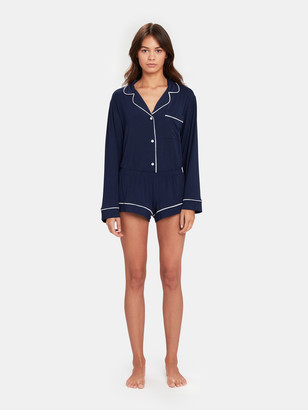 Eberjey Gisele Long Sleeve & Short PJ Set