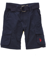 U.S. Polo Assn. Classic Navy Belted Cargo Shorts - Boys