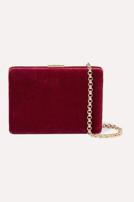 Anya Hindmarch Mini Velvet Shoulder Bag - Red