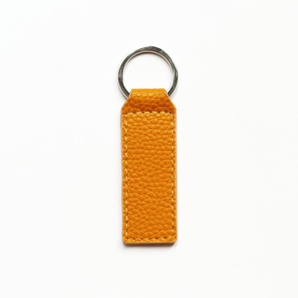 Been London De Beauvoir Recycled Leather Keyring In Ripe Mango