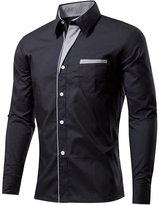 Generic Mens Casual Slim Fit Shirt Formal Button Dress Shirt XL