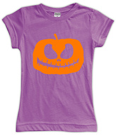 Urban Smalls Purple Jack-O'-Lantern Fitted Tee - Toddler & Girls