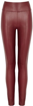 Wolford Edie Burgundy Faux Leather Leggings