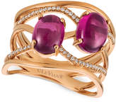 LeVian Le Vian® Raspberry Rhodolite® (3 ct. t.w.) and Diamond (1/8 ct. t.w.) Ring in 14k Rose Gold