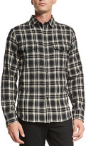 Rag & Bone Jack Plaid Button-Down Shirt, Black