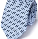 Charles Tyrwhitt Navy and sky linen classic chambray tie