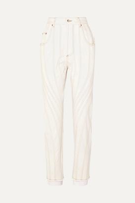Thierry Mugler High-rise Straight-leg Jeans - White