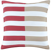 Southern Tide Skipjack Chino Pieced Striped Cotton Twill Square Feather Pillow