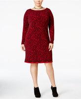 MICHAEL Michael Kors Size Lace-Print Sheath Dress