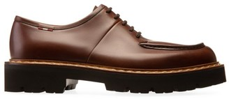 Bally Lyndon Leather Lace-Up Platform Loafers